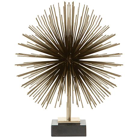 "Boom Brass 11 3/4"" High Tabletop Sculpture"