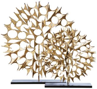 "Cosmos Gold 25 1/2"" High Decorative Sculpture (8C650) 8C650"