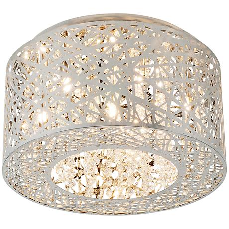 "ET2 Inca 15 3/4"" Wide Polished Chrome LED Ceiling Light"