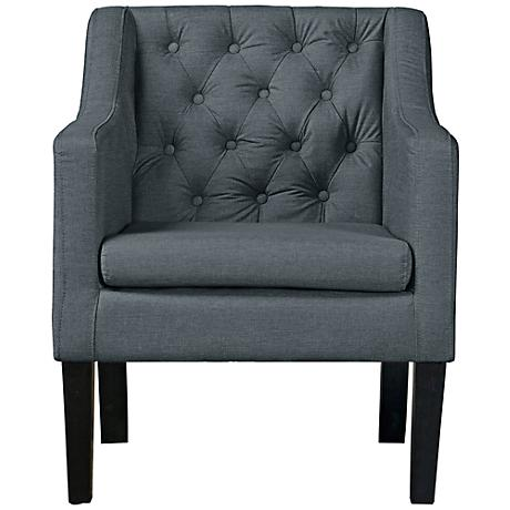 Baxton Studio Brittany Gray Linen Club Chair