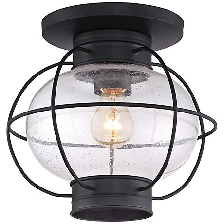 "Quoizel Cooper 10 1/2""H Mystic Black Outdoor Ceiling Light"
