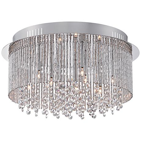 "Platinum Countess 16 1/2""W Polished Chrome Ceiling Light"