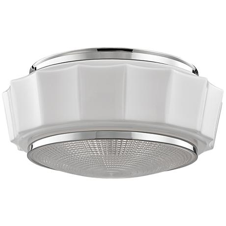"Hudson Valley Odessa 16 1/4"" Polished Nickel Ceiling Light"