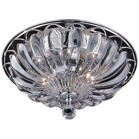 "Eurofase Vintage 11 3/4""W Scalloped Glass Ceiling Light"
