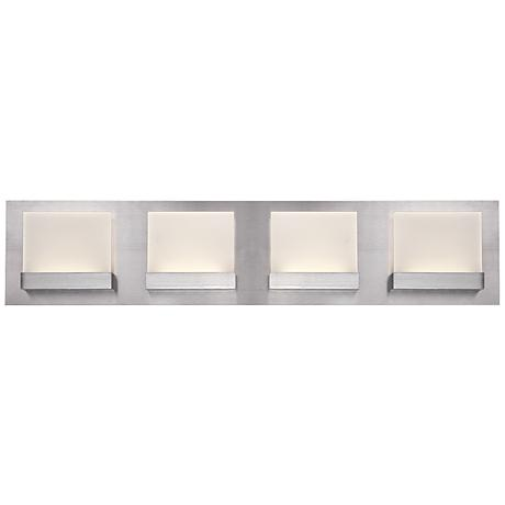 "Eurofase Harmen 24"" Wide Frosted 4-LED Nickel Bath Light"