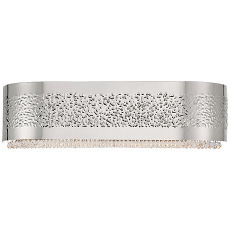 "Eurofase Cara 20"" Wide Snow Glass Satin Nickel Bath Light"