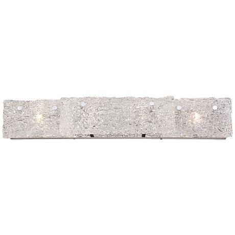 "Eurofase Caramico 33"" Wide 3-Light Ice Glass Bath Light"