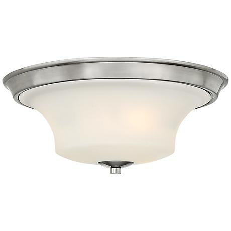 "Hinkley Brantley 17"" Wide Brushed Nickel Ceiling Light"