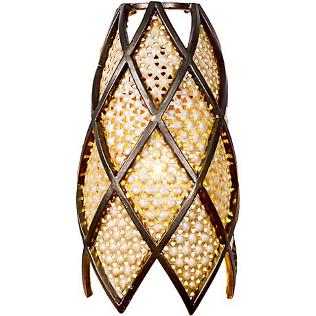 "Varaluz Argyle 10 3/4""H Silver Frit Glass Wall Sconce"