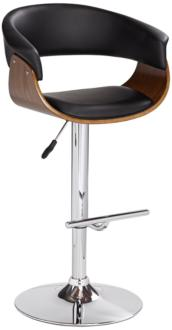 Francesca Black Faux Leather Adjustable Swivel Barstool (8F147) 8F147