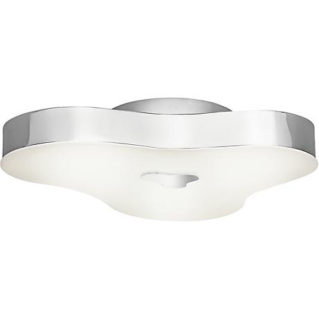 "Elan Tintori 17""W LED Etched Acrylic Chrome Ceiling Light"