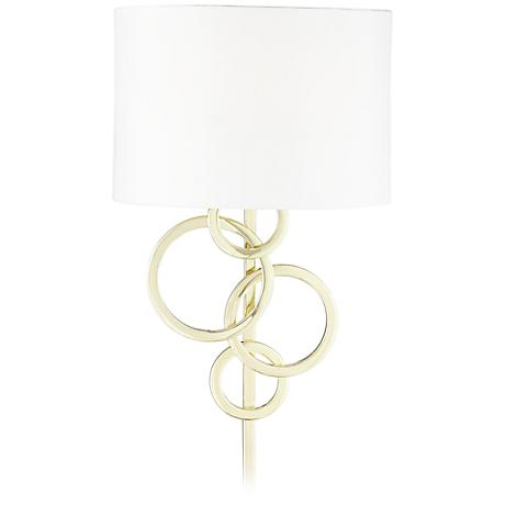 Possini Euro Design Circles Polished Brass Plug-In Wall Lamp