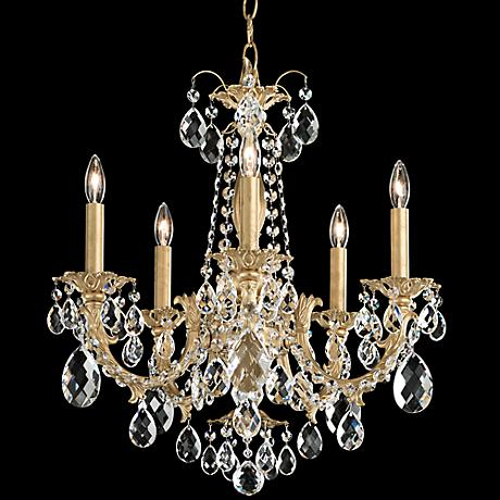 "Schonbek Alea 19"" Wide Heirloom Gold 5-Light Chandelier"