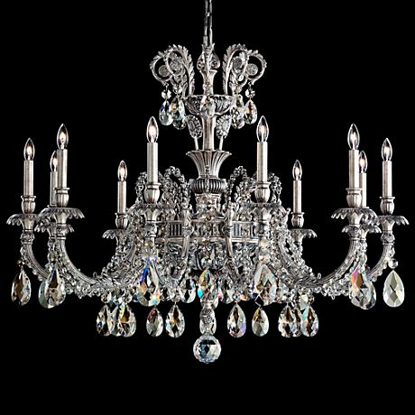 "Schonbek Genzano 39"" Wide Silver 11-Light Chandelier"