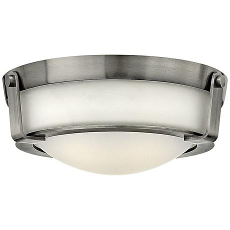"Hinkley Hathaway 13""W Antique Nickel Ceiling Light"