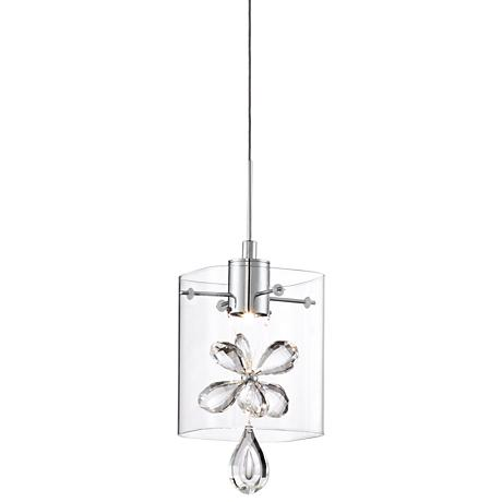 "Possini Euro Joy 4 3/4"" Wide Crystal LED Mini Pendant"