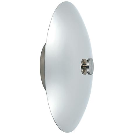 "Eclipse 12"" High Polished Nickel Wall Sconce"
