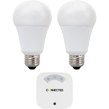 Connected 2-Bulb A19 LED Automated Lighting System Kit