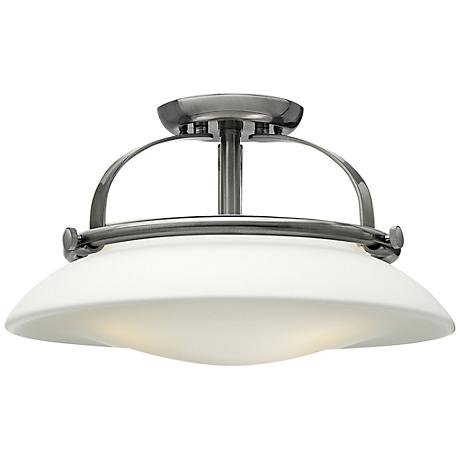 "Hinkley Hutton 16 1/2"" Wide Brushed Nickel Ceiling Light"