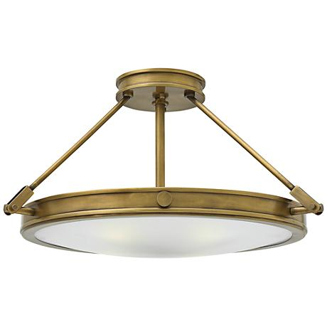 "Hinkley Collier 22"" High Heritage Brass Ceiling Light"