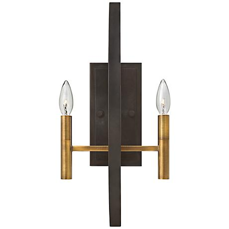"Hinkley Euclid 20"" High Spanish Bronze Wall Sconce"
