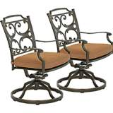 Lowell Bay Bronze Outdoor Rocking Chair Set of 2