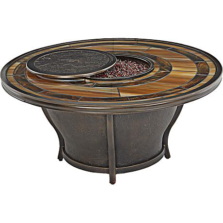 "Riviera Bronze 52"" Round Outdoor Fire Table"