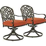 Riviera Bronze Outdoor Rocking Dining Chair Set of 2