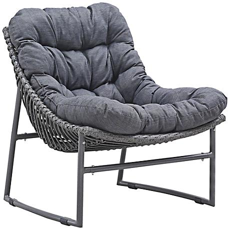 Zuo Ingonish Beach Cozy Weave Gray Aluminum Outdoor Chair