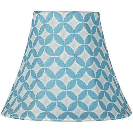 Aqua Blue with White Circles Bell Shade 3x6x5 (Clip-On)