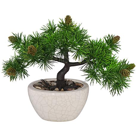 Japanese Faux 3-Branch Bonsai Tree in Ceramic Pot