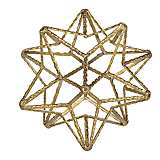 Small Gold Star Metal Ball