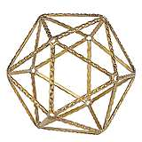 Small Gold Geometric Shaped Metal Ball