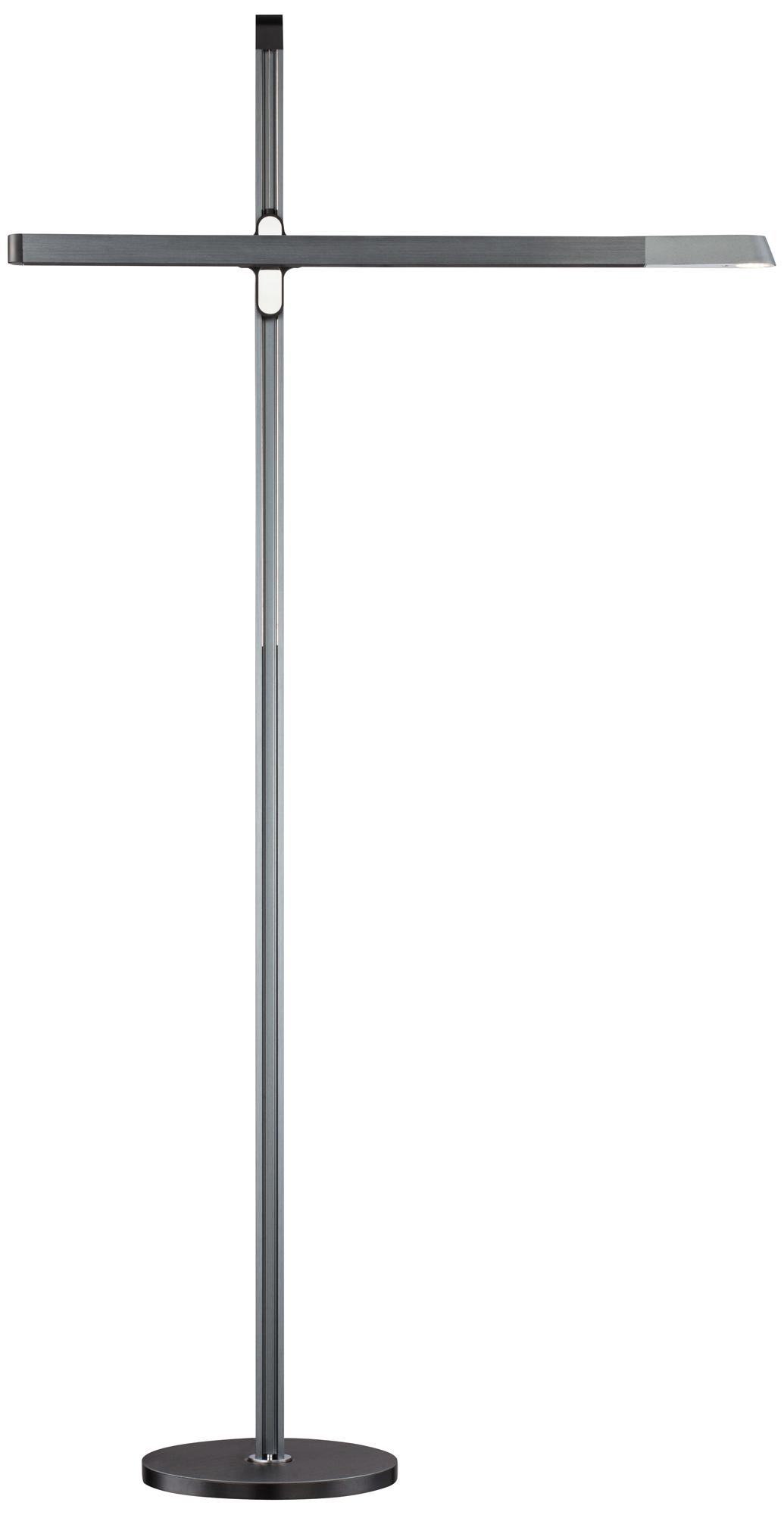 Possini Ridgeway Aluminum Anodized Gray LED Floor Lamp (8J713)