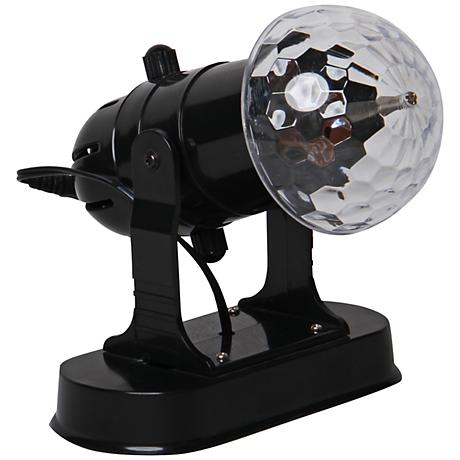 Crystal Spot Light Black Battery-Operated Party Projector