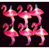 Retro Pink Flamingo 10-Light Novelty String Light