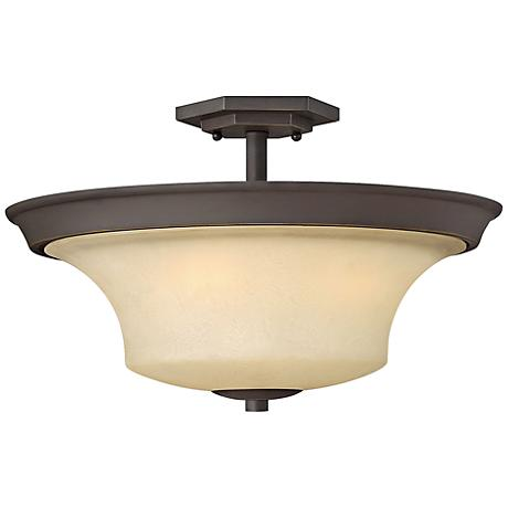 "Brantley 17"" Wide Oil Rubbed Bronze Ceiling Light"