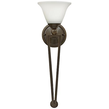 "Hinkley Bolla 26"" High Olde Bronze Opal Wall Sconce"