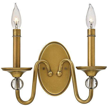"Hinkley Eleanor 9"" High Heritage Brass Wall Sconce"