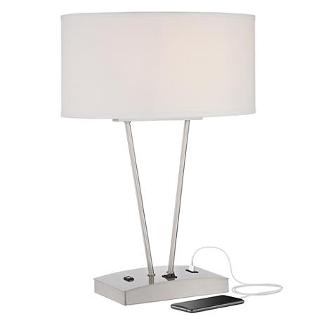 Leon Modern Metal Table Lamp With USB Port