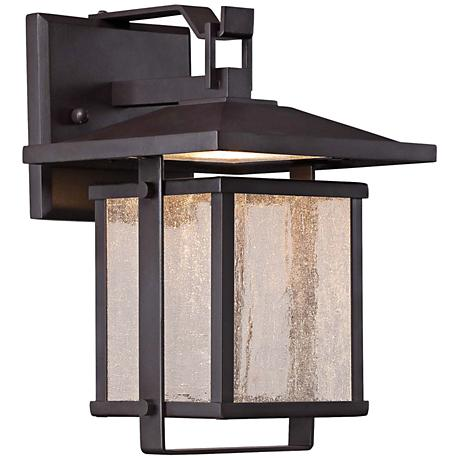 "Hillsdale 14"" High Dorian Bronze LED Outdoor Wall Light"