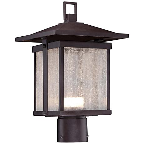 "Hillsdale 14 1/2""H Dorian Bronze LED Outdoor Post Light"