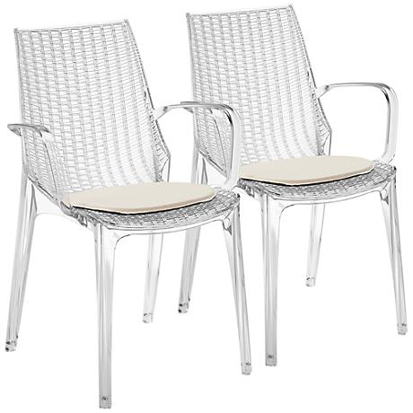 Messina Clear Indoor-Outdoor Armchair Set of 2