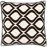 "Surya Seraphina Black 18"" Square Throw Pillow"