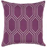 "Surya Skyline Diamond Purple 18"" Square Throw Pillow"
