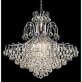 "Toureg 31"" Wide Chrome 15-Light Chandelier"