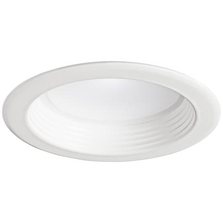 "4"" White Baffle 10 Watt Dimmable LED Retrofit Trim in White"