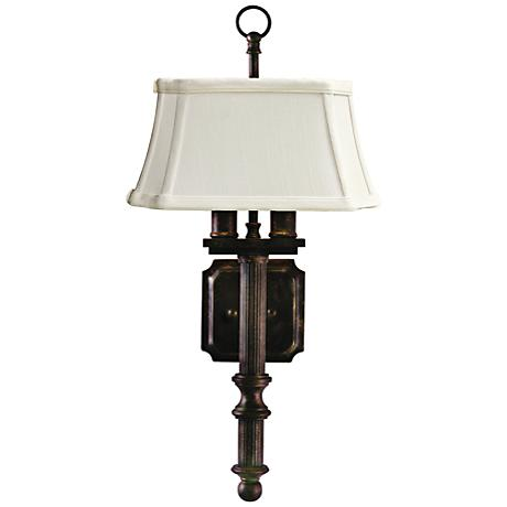 "House of Troy 2-Light 19"" High Copper Bronze Wall Sconce"