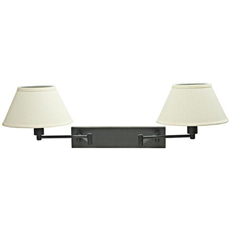 House Of Troy Double Oil Rubbed Bronze Swing Arm Wall Lamp
