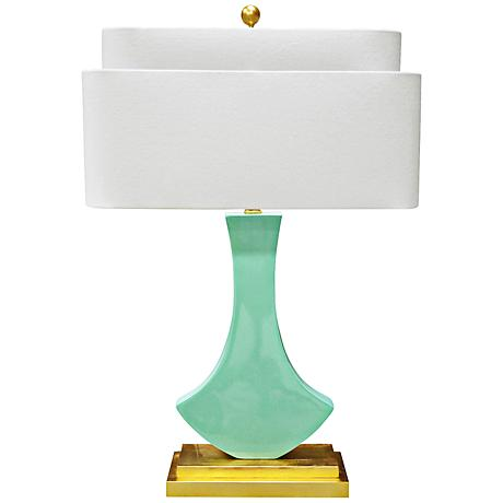 couture bellaria mint green modern table lamp 8m462. Black Bedroom Furniture Sets. Home Design Ideas